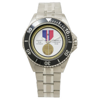 1 CAMPAIGN STAR KOSOVO WAR VETERAN WATCHES