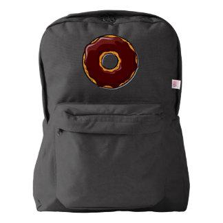 1 Cartoon Chocolate Donut Design Backpack