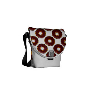 1 Cartoon Chocolate Donut Design Courier Bags