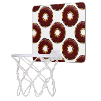1 Cartoon Chocolate Donut Design Mini Basketball Hoop