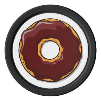 1 Cartoon Chocolate Donut Design Poker Chips