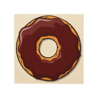 1 Cartoon Chocolate Donut Design Wood Wall Art