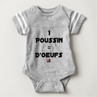 1 CHICK = Of EGGS - Word games - François City Baby Bodysuit