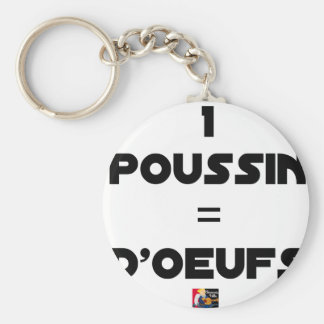 1 CHICK = Of EGGS - Word games - François City Key Ring