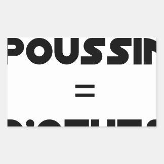 1 CHICK = Of EGGS - Word games - François City Rectangular Sticker