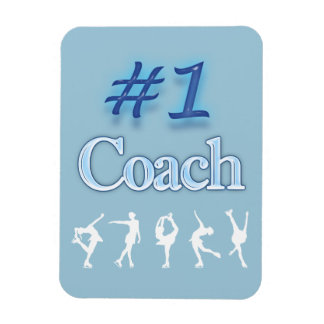 #1 COACH MAGNET- figure skaters Rectangular Photo Magnet
