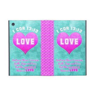 1 Cor 13:13 The Greatest is LOVE Bible Verse Quote iPad Mini Cover