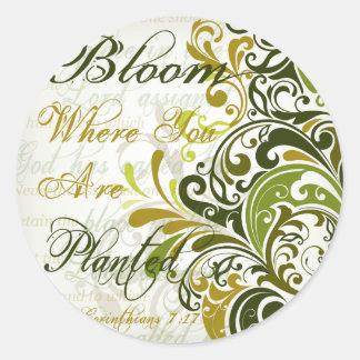1 Cor 7 17 Scripture Art Round Sticker
