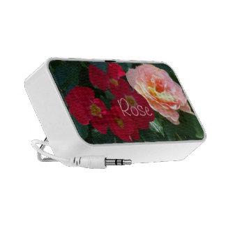 1 Coral Red Pink Roses Speaker System