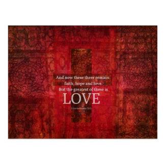 1 Corinthians 13:13 BIBLE VERSE ABOUT LOVE Postcard