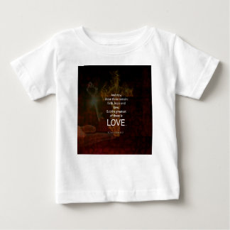 1 Corinthians 13:13 Bible Verses Quote About LOVE Baby T-Shirt