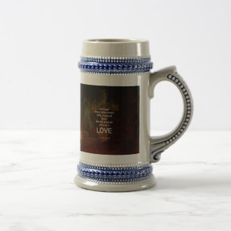 1 Corinthians 13:13 Bible Verses Quote About LOVE Beer Stein