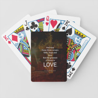 1 Corinthians 13:13 Bible Verses Quote About LOVE Bicycle Playing Cards