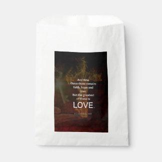 1 Corinthians 13:13 Bible Verses Quote About LOVE Favour Bag
