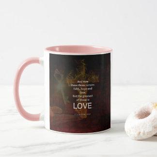1 Corinthians 13:13 Bible Verses Quote About LOVE Mug