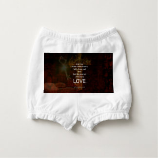 1 Corinthians 13:13 Bible Verses Quote About LOVE Nappy Cover