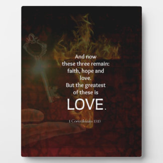 1 Corinthians 13:13 Bible Verses Quote About LOVE Plaque