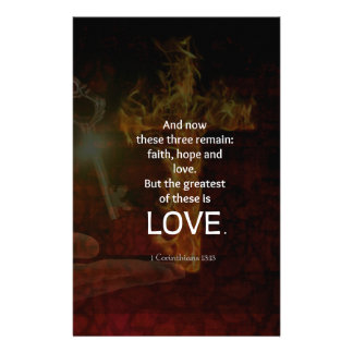 1 Corinthians 13:13 Bible Verses Quote About LOVE Stationery