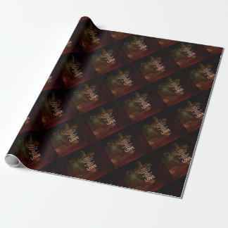1 Corinthians 13:13 Bible Verses Quote About LOVE Wrapping Paper