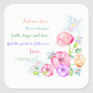 1 corinthians 13:13 love is the greatest square sticker