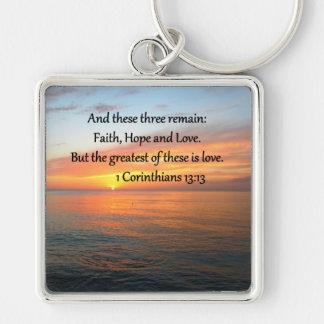1 CORINTHIANS 13:13 SUNRISE PHOTO KEY RING
