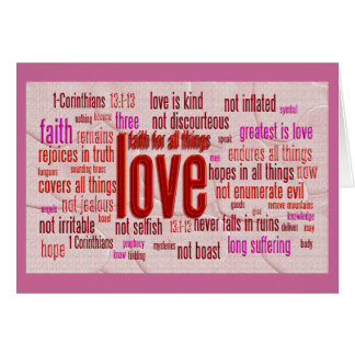 1 Corinthians 13:1-13 Heart Cloth Greeting Card
