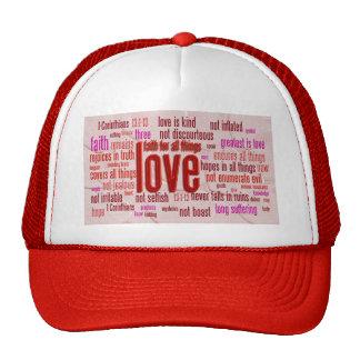 1 Corinthians 13:1-13 Heart Cloth Mesh Hats