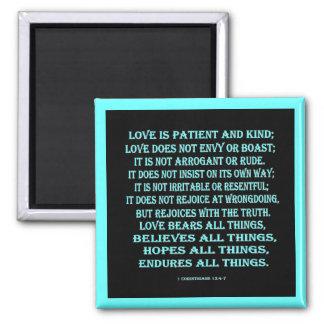 1 Corinthians 13:4-7 love Magnet