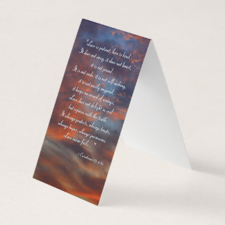 1 Corinthians 13; 4-8a | Inspirational Business Card
