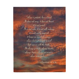 1 Corinthians 13; 4-8a Wood Prints