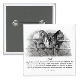 1 Corinthians 13: Love, Horses in Pencil Pin