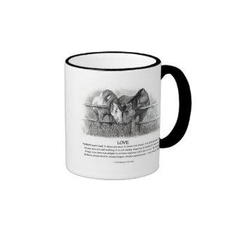 1 Corinthians 13: Love, Horses in Pencil Mug