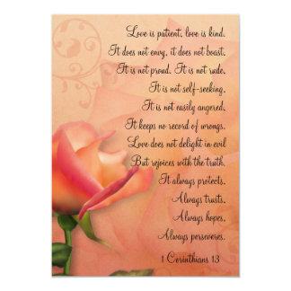 1 Corinthians 13 Love is Patient Mini Prints 13 Cm X 18 Cm Invitation Card