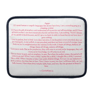 1 Corinthians 13 MacBook Sleeve