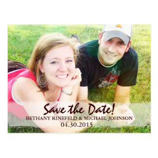 1 Corinthians 13 Photo Save-the-Date Postcard