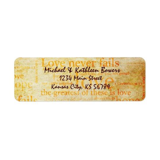 1 Corinthians 13 Return Address Label