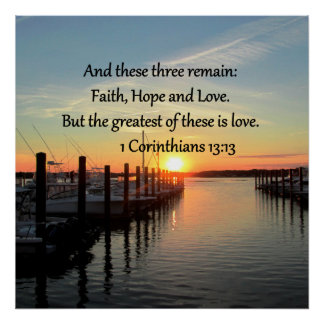1 CORINTHIANS 13 SUNSET DESIGN POSTER
