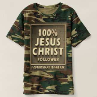 1 Corinthians 15 KJV Men's Camouflage T-shirt