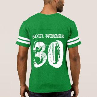 1 Corinthians 15 KJV Men's Football T-Shirt