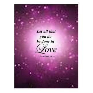 1 Corinthians 16:14 Postcard