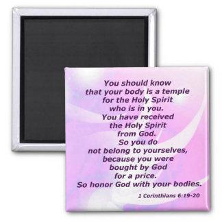 1 Corinthians 6:19-20 Magnet
