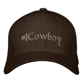 #1 Cowboy Embroidered Baseball Cap