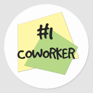 #1 Coworker Round Sticker