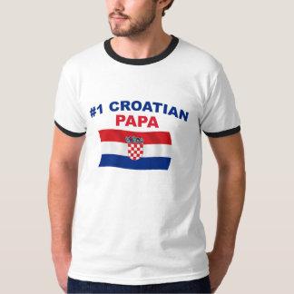 #1 Croatian Papa Tshirt