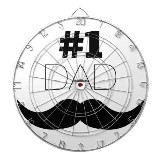 #1 Dad Black Mustache - Number One Dart Boards