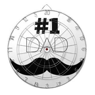 #1 Dad Black Mustache - Number One Dartboard