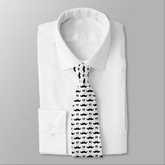 #1 Dad Black Mustache - Number One Tie