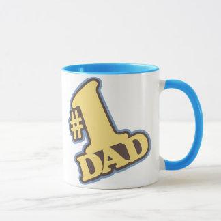 #1 Dad Blue Ringer Mug