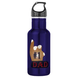 #1 Dad Ebony Teak 532 Ml Water Bottle