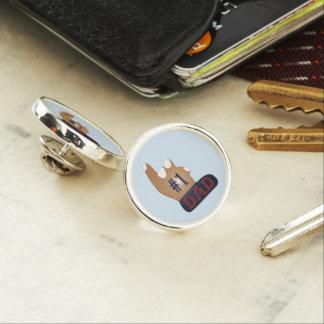 #1 Dad Ebony Teak Lapel Pin
